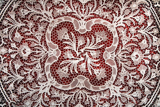 Lace background found at the island of Burano in the Venetian lagoon - Italy