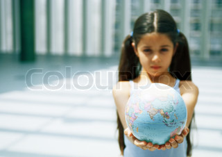Image of 'globe, children, pigtail'