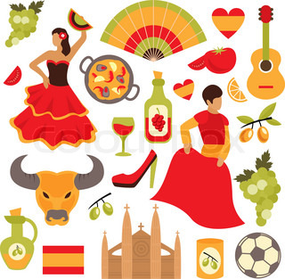 Symbols of Spain Royalty Free Vector Image - VectorStock