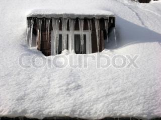 Billede af 'istapper, hus, house'