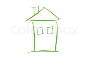 Illustration of a house on white background