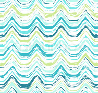 Colorful Stripes Seamless Wavy Pattern Abstract