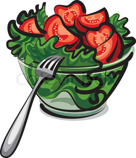 Fresh Vegetable Salad And Wine Vector Colourbox