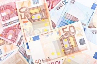 Euro banknotes background 3