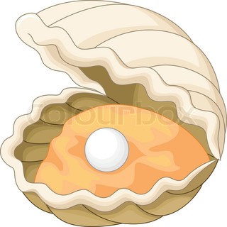 Oyster cartoon stock vector