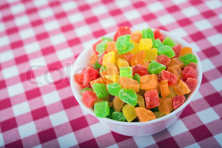 candied fruit juicy fruit gum