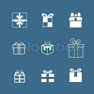 gifts vector icon set