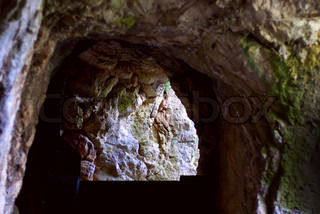 Stairs at the end of the cave, in the citadel of Sisteron