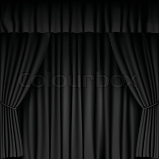 Curtains Ideas black theater curtains : Vector Curtain | Stock Vector | Colourbox