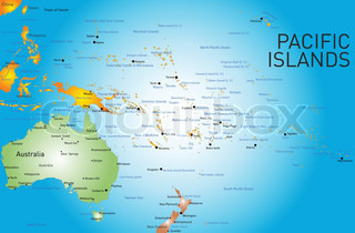 Highly Detailed Vector Map Of Fiji Stock Vector Colourbox