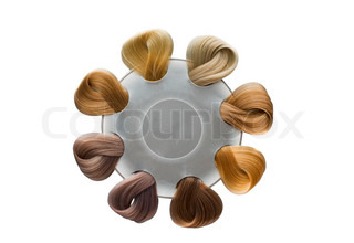 hair samples of different colors
