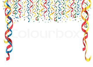 Party Streamers Vector Stock Vector Colourbox
