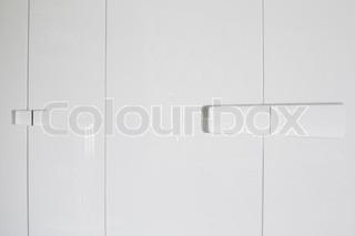 white shelf detail in closet