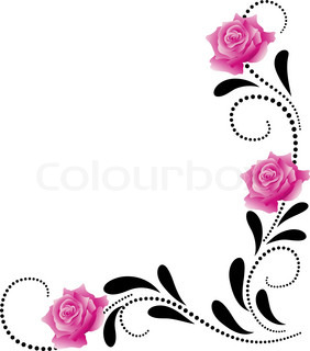 Corner decorative floral ornament
