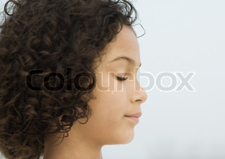 Image of 'thought, thoughtful, curly hair'