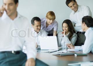 Bild von 'brainstorming, weißer, kauffrau'