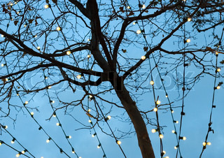 Christmas decoration - chain of lights