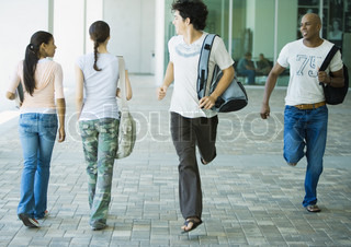 Image of 'running, teenagers, motion'
