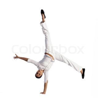 Image of 'gymnastics, energetic, cartwheel'