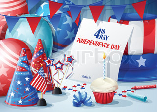 Greeting Card Independence Day July 4.