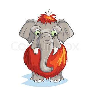 Cartoon image of a baby mammoth.
