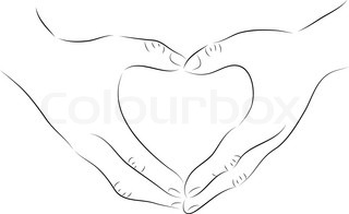 Pencil Drawings Of Hands Making A Heart Traffic Club