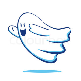 Vector illustration of Cute ghost cartoon collection set  Stock