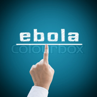 Hand medical with heart pulse Ebola virus concept