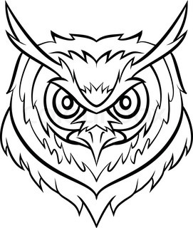 Black and white owl symbol of wisdom and wealth. | Vector ...