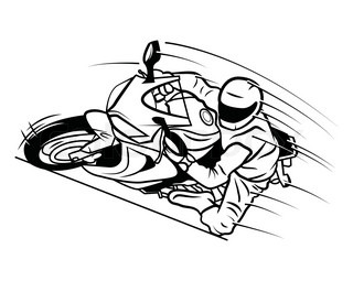 Motorcycle Silhouette Abstract Vector Art Illustration Stock