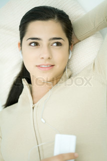 Image of 'lying on back, casually dressed, on back'