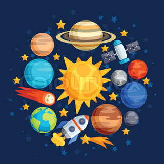 Background of solar system, planets and celestial bodies ...
