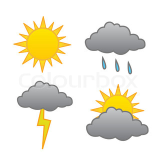 Weather forecast vector set