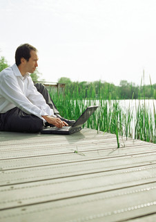Image of 'pc, laptop, pensive'
