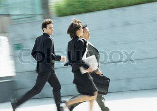 Image of 'running, business, busy'