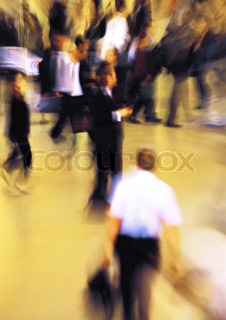 Image of 'crowds, indoors, city dweller'