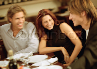 Image of 'dinner, young people, eat'