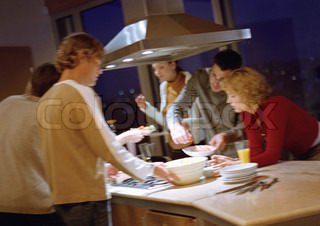 Image of 'cooking, dinner, together'