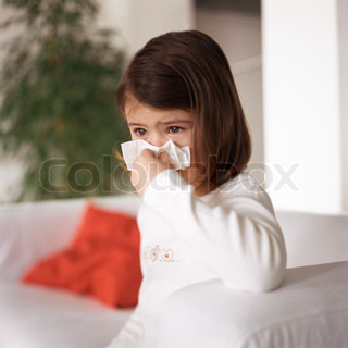 Image of 'child, runny nose, indoors'