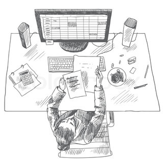 Accountant work place