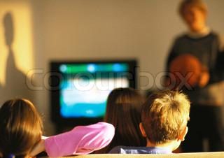 Image of 'tv, watching, children'