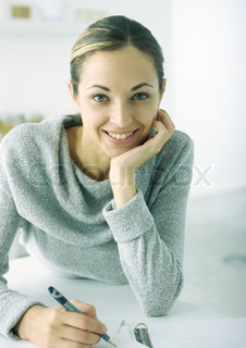 Image of 'writing, young, sweaters'