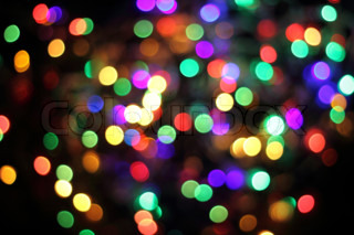 abstract color christmas light background