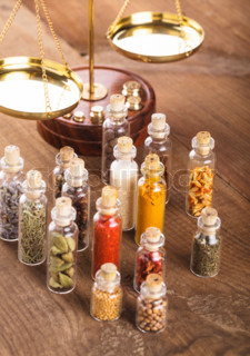 Scales and bottles