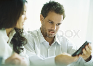 Image of 'business, bookkeeping, couple'