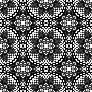 Lace black seamless mesh pattern.