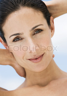 Image of 'woman, skin, smile'