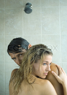 Image of 'couple, shower, man'