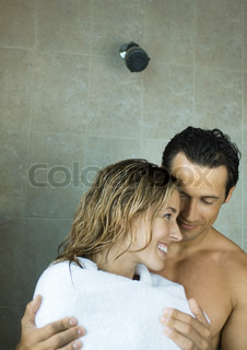 Image of 'woman, shower, man'