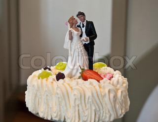 Billede af 'brud, kage, lagkage'